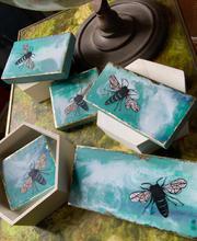 Various Sizes of Earth Day Mini Honeybees of Encaustic