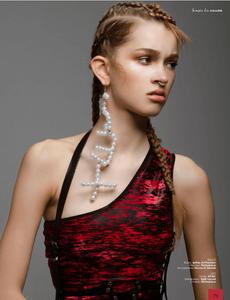 Photo: Alain Egues, Model: Kathi Striga (Viva Models Berlin), Hair and Make Up: Miriam Jochims (Blossom Management), Styling: Lana Shuganova, Clothes: Lettau l|. Art Fashion, Perlensäue,. House of Danae