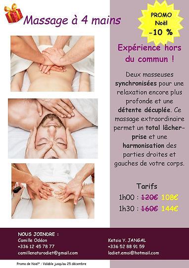 Affiche massage 4 mains promo noel-page-