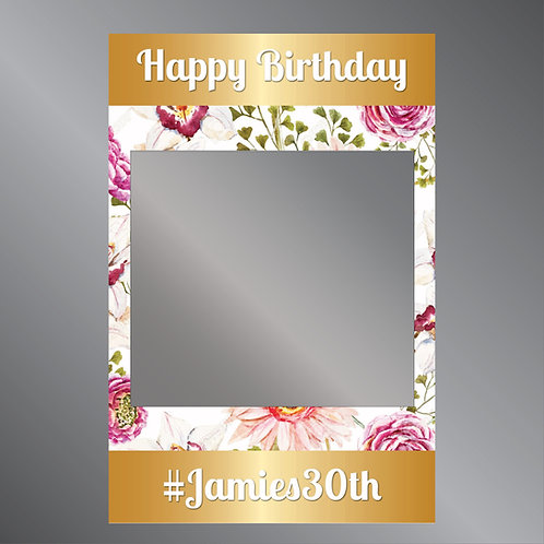 Birthday Gold Frame  -  Photo Prop
