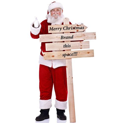 Santa Claus Lifesize Cardboard Cut Out