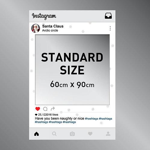 Santa Claus Instagram Frame Cut Out Photo Prop