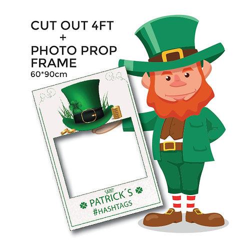 PARTY Saint Patrick's Cut out and photo frame decoration SET.
