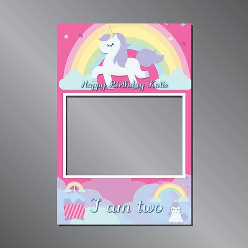 Kid's Frame Unicorn -  Photo Prop
