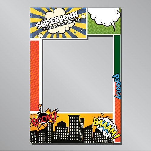 "Birthday ""Comics Super Hero"" Frame Photo Prop"