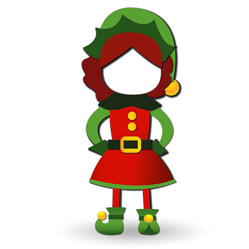 Mrs.Elf Lifesize Cardboard Cut Out for FACE