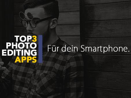 Die 3 besten Fotobearbeitungs-Apps für dein Smartphone