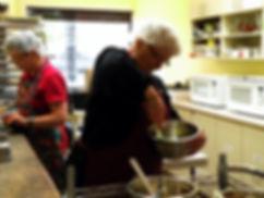 Mrs. B Making Chocolate