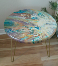 SOLD! Gold Lamé table