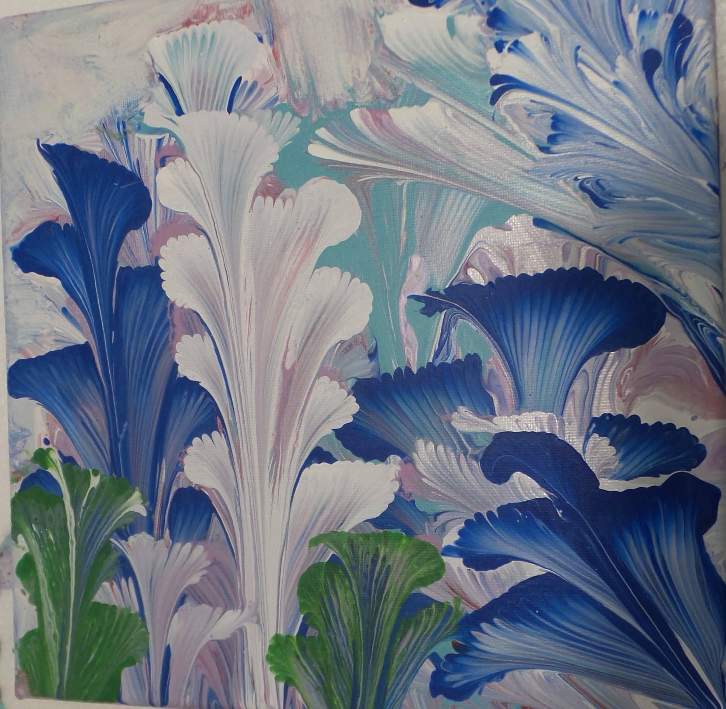 Blue Floral Fantasy