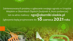 """Konkurs """"Eco Ogród"""" w gminie Oborniki Śląskie"""