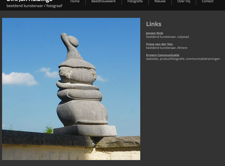 Ermers Communicatie bouwt website Dirk Huizinga