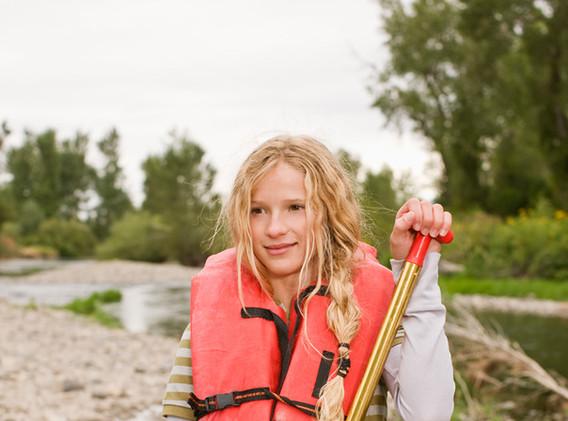 Girl Kayaking