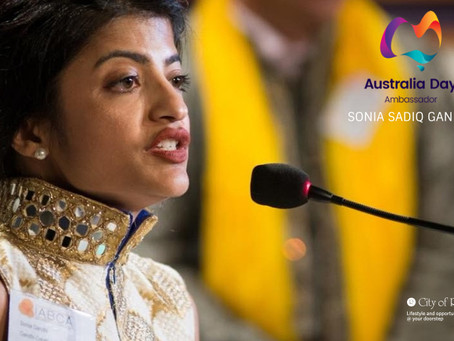 Australia Day Address Provided by Gandhi Creations Director