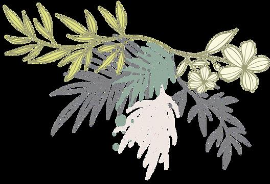 Handgemalte Blumen