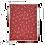 Thumbnail: Kirschkernkissen - dunkelrot mit weissen Blüten
