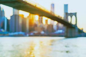 Defocused view of the New York skyline f