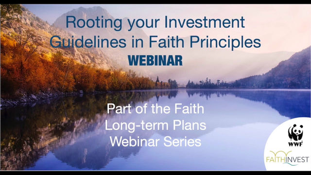 'Aligning investments with values leads to change': webinar report