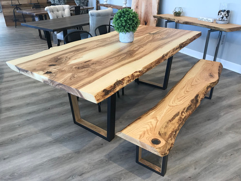 Excellent Ash Dining Table Bench Download Free Architecture Designs Rallybritishbridgeorg