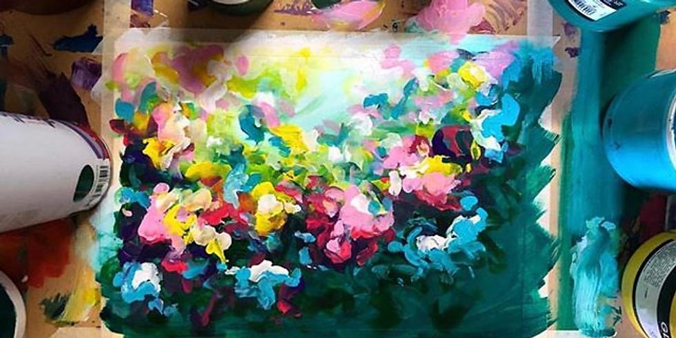 "Paint n' Sip ""Messy Florals"""