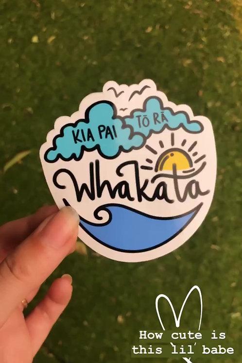 Whakata sticker