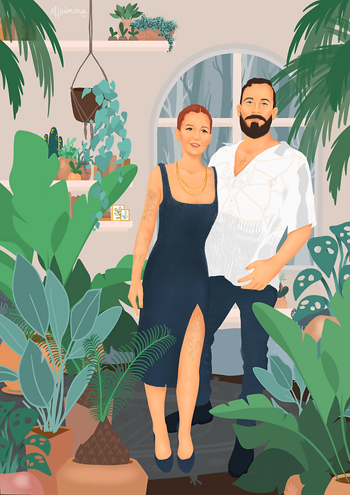 Plant illustration portrait