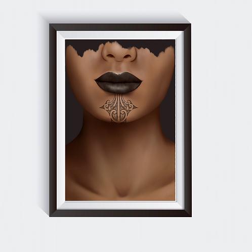 Wahine Kauae Digital Print