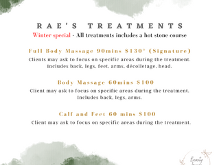 We are pleased to announce that we have a new resident Massage Therapist!