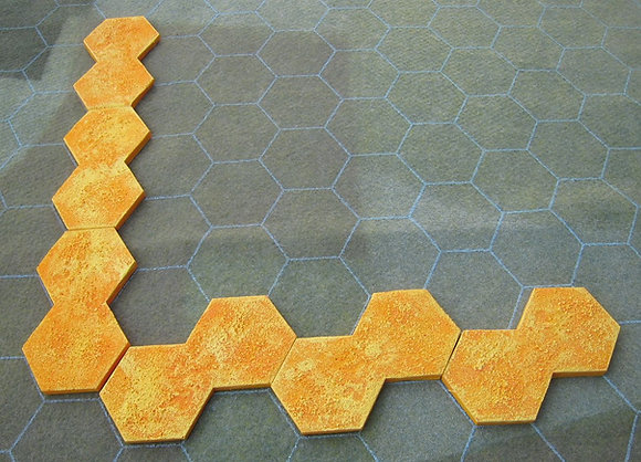"Sun Edge Marker (1.5"" & 2"" hex sizes) for CY6! air combat rules"
