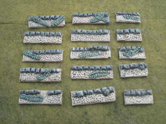 15mm Pacific Foxhole/Entrenched Markers