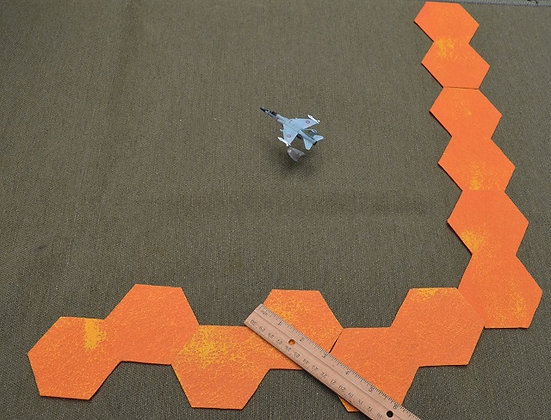 """Sun Edge Marker (3"""" hex size) for CY6! air combat rules"""
