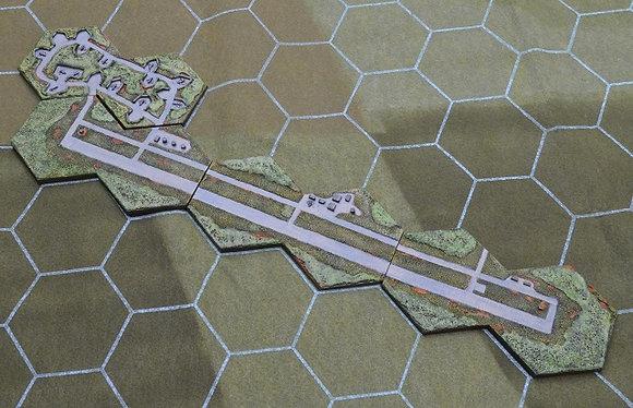 "Kép Air Base w/ damaged runway option (3"" hex)"