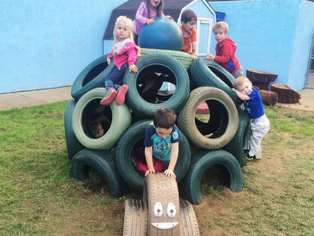 Unusual Climbing Structure for The Lil' School's Playground