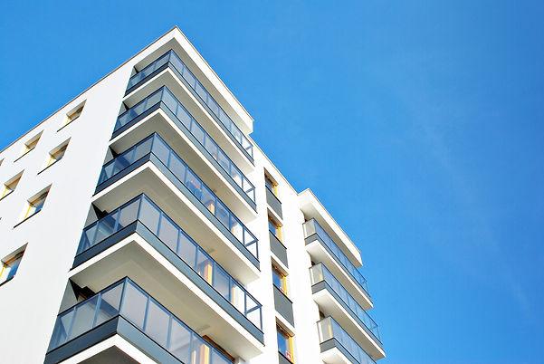 Modern apartment buildings on a sunny da