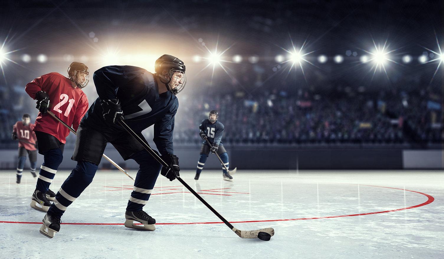 Hockey match at rink   . Mixed media.jpg