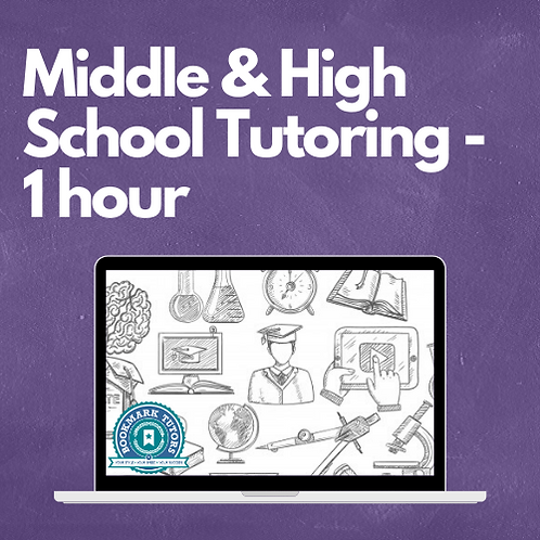 1 Hour - Middle & High School Tutoring