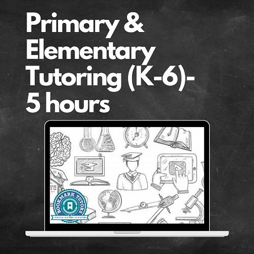 5 Hours Primary & Elementary Tutoring Tutoring