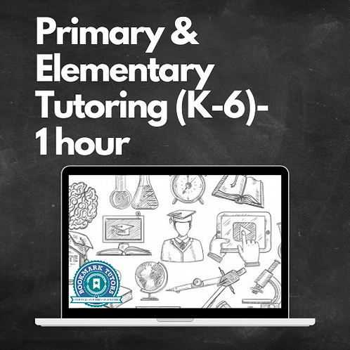1 Hour Primary & Elementary Tutoring
