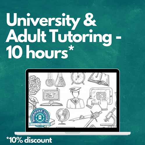 10 Hours - University or Adult Tutoring
