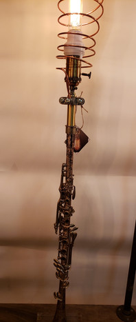 Vintage Clarinet lamp
