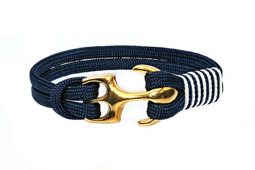 Bracelet AUGUSTA ancre or mat