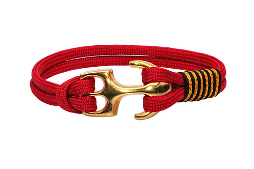 Bracelet PASSION RED ancre or mat