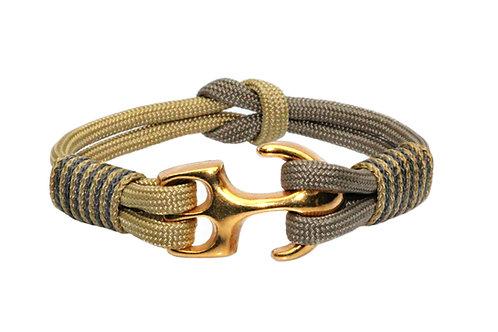 Bracelet NEW YORK ancre or mat