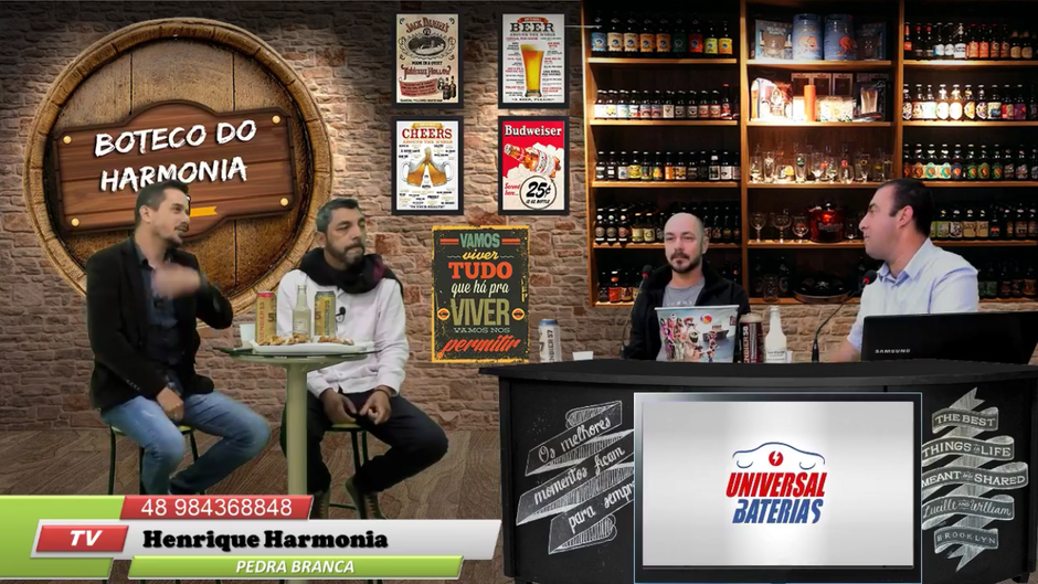 Nessa segunda o programa Boteco do Harmonia recebeu MC Floripa...