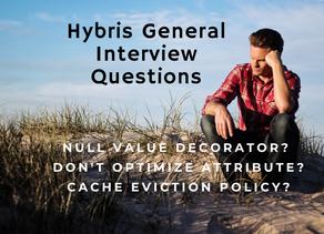 Hybris/SAP CX General Interview