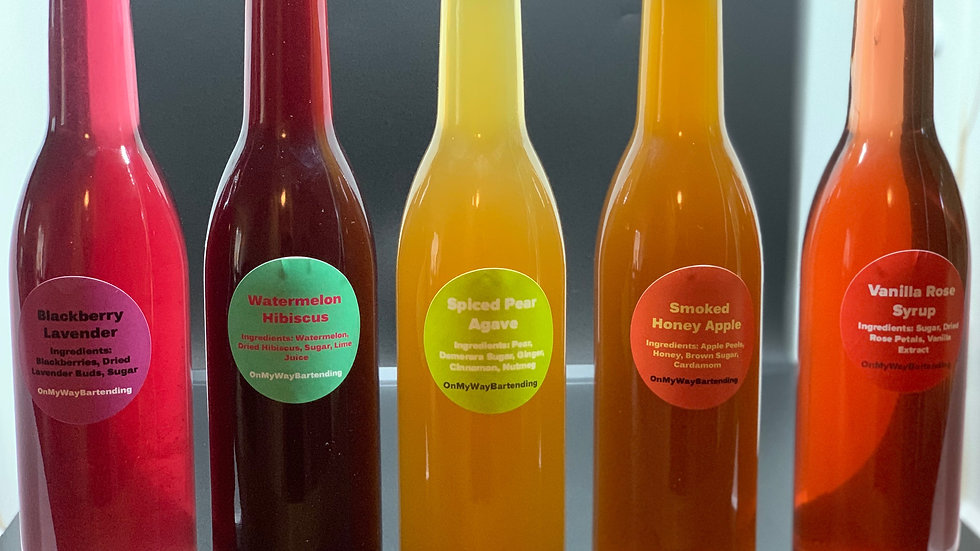 Choose 3-Custom Syrup Refills WITH RECIPES