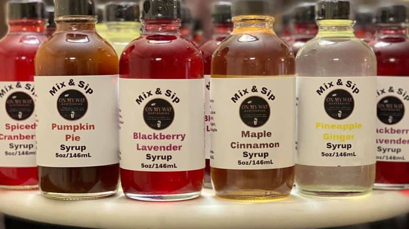 3-Custom Mix and Sip Syrups Sampler