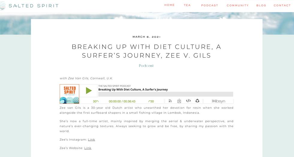 Zee van Gils on Salted Spirit Podcast