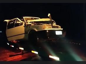 Acidente entre Fiat Uno e Caminhão é registrado na ERS-142 próximo ao trevo de Não-Me-Toque