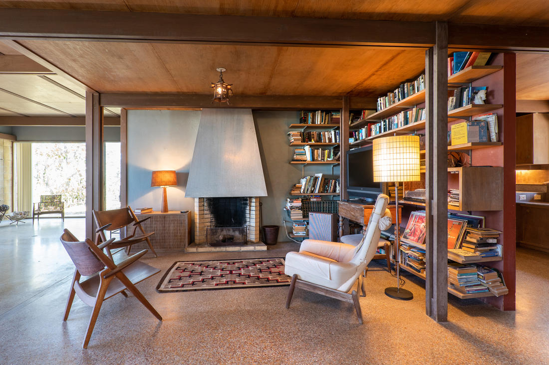 Interior Living Room - Library